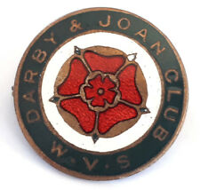 Womens Voluntary Service - Darby And Joan Club - Vintage Enamel Lapel Badge