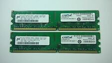 4GB (2 x 2GB) PC2-6400 Micron Memory Kit 800MHz 240-Pin DDR2 Desktop DIMM RAM