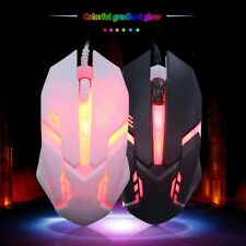 Gaming Mouse 7 Colors LED Backlight USB Wired Flank Cable Silent Mice For PC Lap