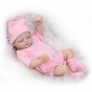 """10"""" Mini Cute Girl Baby Lifelike Dolls Reborn Realistic Silicone Water Bath Doll"""
