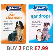 Johnsons Ear Wax Antibacteria Cleanser Cats & Dogs 18ml