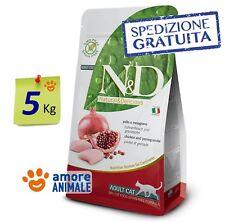 Farmina N&D Grain Free Pollo e Melograno 5 Kg ^^ Crocchette per Gatto e Gatti