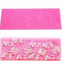 3D Lace Silicone Fondant Baking Cake Sugar Craft Mould Decorating Mold FO
