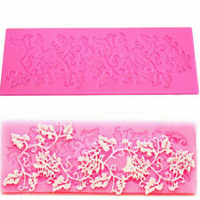 3D Silicone Fondant Cake Lace Sugar Craft DIY Mat Texture Flower Decor Mold HP