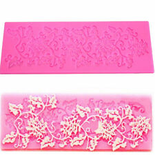 Hot 3D Lace Silicone Fondant Baking Cake Sugar Craft Mould Decorating Mold IU