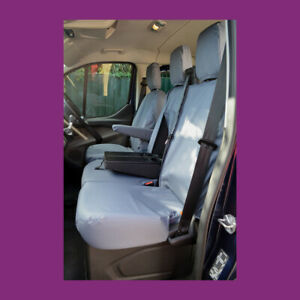 Maxus Deliver 9 2020+ Tailored Waterproof Front 3 WITH TRAY Grey Seat Covers