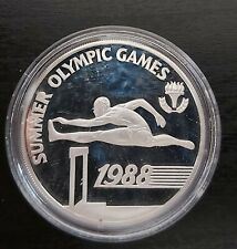 BARBADOS - SILVER UNC 20$ COIN 1988 YEAR KM#49 SEOUL OLYMPIC GAMES