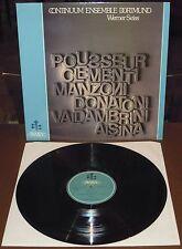 LP CONTINUUM ENSEMBLE DORTMUND s/t (Italia 78) contemporary Clementi Donatoni M!