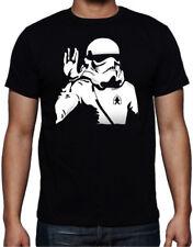 Star Wars Star Trek Stormtrooper Vulcan Salute Funny Parody Mash Up New T Shirt