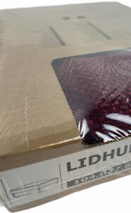 Ikea LIDHULT Cover for open end section w/storage, Lejde red-brown - New