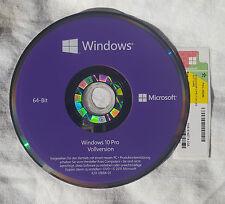 Windows 10 pro COA Aufkleber Product Key ,Hologramm DVD 64 Bit ( DE ) Microsoft