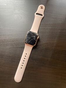 Apple Watch Series 4 Gold Aluminum 40MM Pink Sand Sport Band - For Parts/Repair