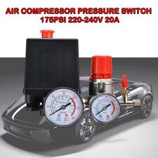 Air Compressor Auto Pressure Switch Control CutOff Valve 175PSI 220-240V 20A New