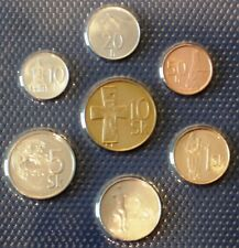 Slovakia SET of 7 COINS,10 20 50 Haller 1 2 5 10 Sk 1996 to 2007 UNC