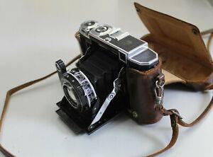 HE06) Alte Klappkamera, Zeiss Ikon Compur Rapid, mit Tragetasche