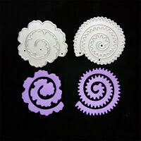 2pcs fleurs matrices de découpe en métal pochoirs pour cartes d'album de scraMFU