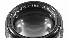 Fast Canon Lens Focal Length 82mm @ F1.2
