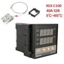 PID REX-C100 Temperature Controller + 40A Solid State Relay + K Thermocouple SG