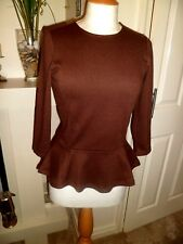 LAUREN Ralph Lauren Brown Herringbone Top Extra Small BNWT $85.00