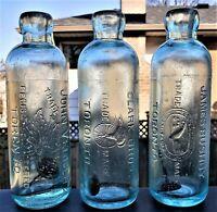 🍁 John Verner Maple Leaf Clark Bros James Bushby Canada Hutchinson Soda Bottles