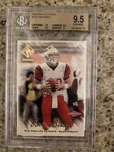 Tom Brady Rookie Card 2000 Pacific Private Stock Hobby BGS 9.5 RC   /278