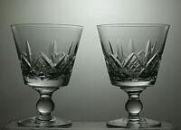 "STUART CRYSTAL ""GLENGARRY"" CUT 10OZ WATER GOBLETS CLARET WINE GLASSES-5 1/8""TALL"
