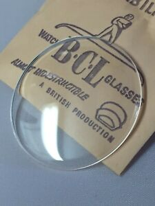 BCL Acrylic Glass For Open Face Pocket Watches NOS Sizes 36.2mm-49.8mm Low Dome