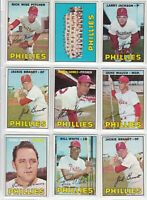 1967 Topps Baseball  Lot of <9> Cards PHILADELPHIA PHILLIES Not PSA Not Junk