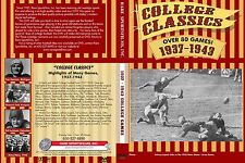 1937-1943 College Football Game Films W/ Sound, now on DVD!