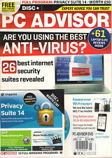 NEW PC ADVISOR 26 BEST ANTI-VIRUS Internet Security DVD Full PRIVACY SUITE 14 UK