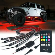 Car Underbody Neon Strip Lights Kit w/ Sound Active Function and Wireless Remote