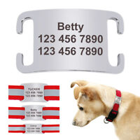 Engraved Stainless Steel Slide-on Dog Tag With Personalised Small Collar Tags