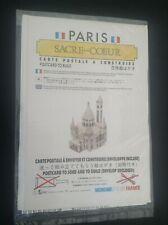 carte postale à monter sacré coeur Paris ETAT NEUF