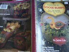 Primitive Folk Art Goose Bumps Painting Book- Cole-Daisies & Strawberries, Goose