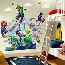 Super Mario Wall Sticker Kids Boy Bedroom Removable PVC Mural Decal Home Decor