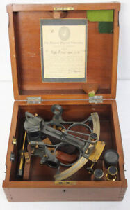 Vintage Sextant By Wilfred O'White Nautical Instruments In Original Box NICE !!!
