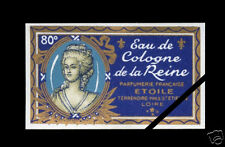 Old French Perfume Label: Early 1900's Cologne Reine Etoile Paris France