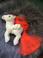 Vintage 1985 G1 My Little Pony MLP PARADISE Pegasus Ponies Flocked AS IS Damaged