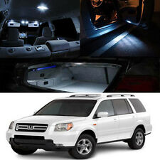 For 03-08 Honda Pilot White Interior Xenon LED Bulb Full Package Map Dome Trunk