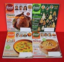 Vtg Lot 4 FOOD NETWORK Magazine THANKSGIVING HALLOWEEN HOLIDAY Recipes 2011-13