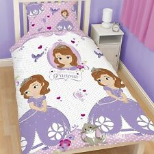 Disney Princess Sofia the First Amulet Single Duvet Cover Bed Set Clover Rabbit