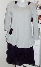 Braintree Bio Coton Tunique Longue Chemise Giselle Pâle Pebble stone M L gris