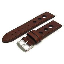 Grand Prix Racing Leather Watch Strap Band 24mm 22mm 20mm (Coloured Stitching)