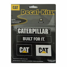 Caterpillar CAT 4pc Decal Kit Car Truck Suv semi tractor built for it sticker