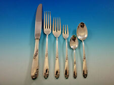 Furniture Antiques 2019 Latest Design English Shell By Lunt Sterling Silver Flatware Set For 12 Service 64 Pieces