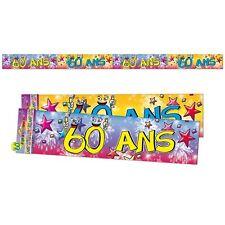 Banderole Guirlande Bannière 60 Ans Décoration de Salle ANNIVERSAIRE MARIAGE