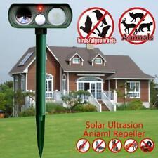 Solar PIR Ultrasonic Pest Animal Repeller Sensor Cat Dog Fox Deterrent Repellent