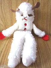 "Lamb Chop 19"" Plush And Knit Hand Puppet 1993 Sheri Lewis Enterprises"
