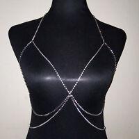 Hot Sale!Bikini Beach Cross Harness Necklace Sexy Waist Belly Body Chain Jewelry