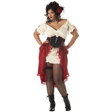 Deluxe Cantina Saloon Girl Latina Senorita Women's Costume Dress, 3X-Large